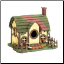Mossy Roof Cottage Birdhouse (SKU: 15111)