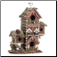 Gingerbread Style Decorative Birdhouse (SKU: 30206)