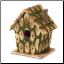 Moss-Edged Bird House (SKU: 37921)