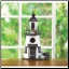 Pennsylvania Dutch Decorative Lighthouse Bird House (SKU: 30208)